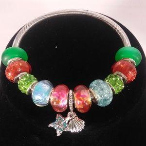 Fashion Charm Metal Spring Bracelet